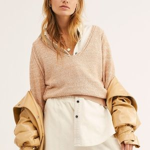 NWT Free People V Neck Slouchy Sweater